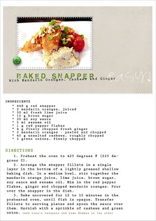Baked Snapper recipe