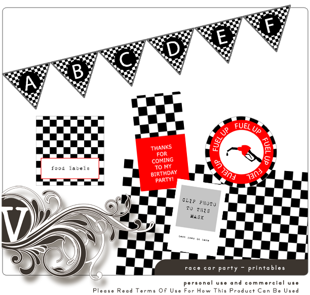 Right Now Noah S Race Car Party Free Printables