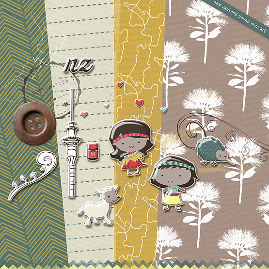 New-zealand--bound-digital-scrapbooking-kit